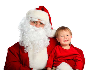 Xmas  background: Santa Claus, children photo