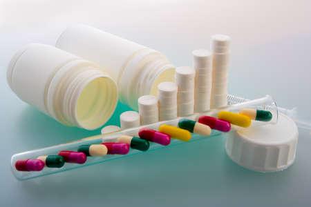 Super macro of medical pills photo