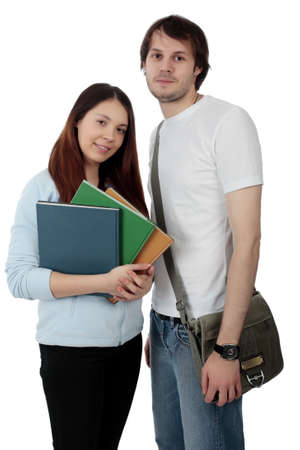 homestudy: Portrait of a young people.Education background. Stock Photo