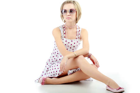 Portrait of a styled professional model. Theme: beauty, fashion Stock Photo - 4126256