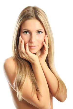 Portrait of a styled professional model. Theme: beauty, fashion, spa photo
