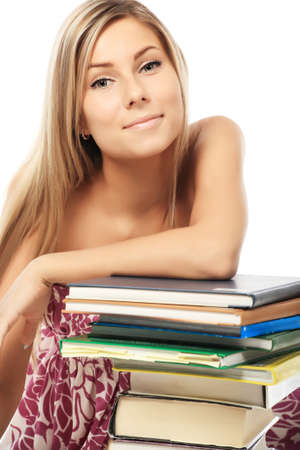 Portrait of a pretty student. Shot in a studio. Stock Photo - 4373597