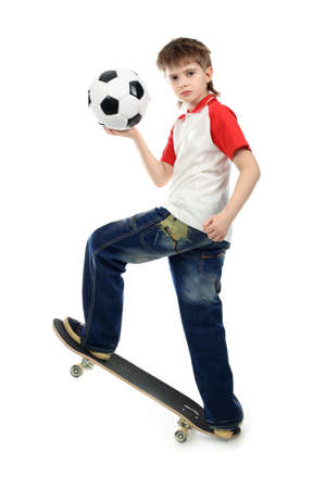 Sport theme, leisure, active life of young people. Shot in studio. photo