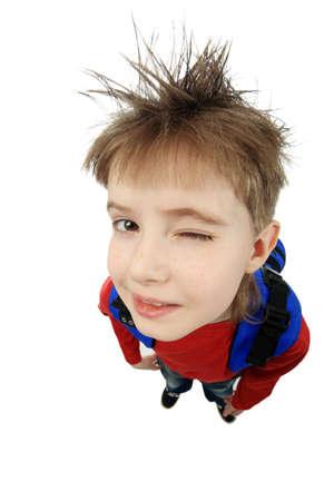 Educational theme: Funny Teen. Shot in studio. Stock Photo - 4500358