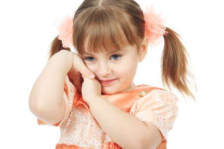 Beautiful emotion girl. Shot in a studio. Stock Photo - 4513625