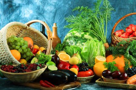 viveres: Verduras frescas, frutas y otros productos alimenticios. Enorme colecci�n