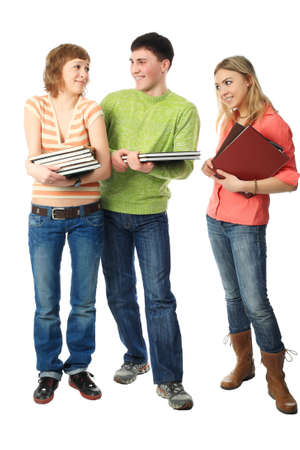 Group of students. Theme: education, friends, relations.  photo