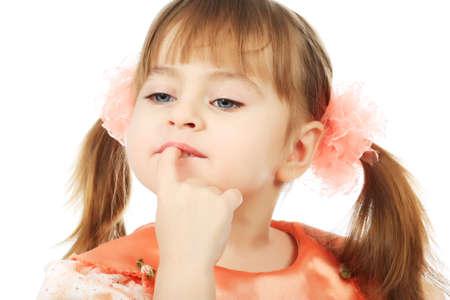 Beautiful emotional girl. Shot in a studio.  Stock Photo - 4539984
