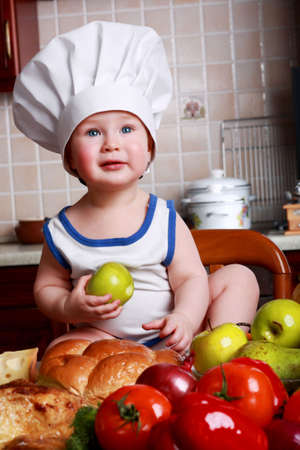 appetizers menu: Little cook: fruits and baby food