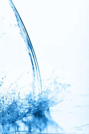 Fantastical water background. Drops, waves, splashes.