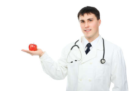 Medical theme: portrait of a friendly doctor. photo