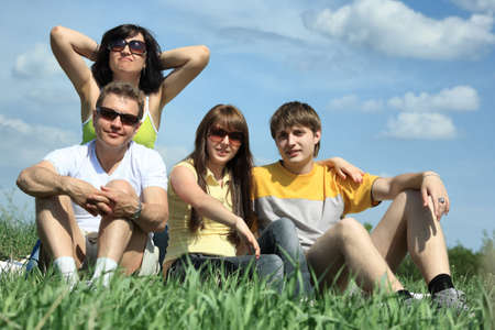 Happy family having a rest together outdoor. Stock Photo - 4900250