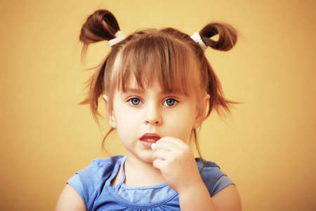 Beautiful little girl at home Stock Photo - 4975854