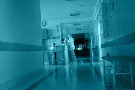 general: Medical theme: shot of a hospital corridor.