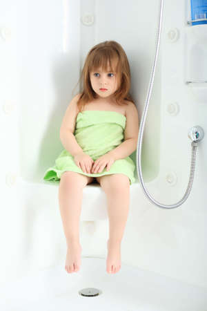 Sweet child taking a bath. Stock Photo - 5060762