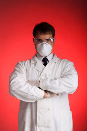 ah1n1: Medical theme: portrait of a serious doctor.