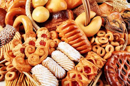 Boulangerie des denrées alimentaires. Tourné dans un studio. Banque d'images