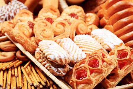 aliments: Boulangerie des denr�es alimentaires. Tourn� dans un studio. Banque d'images