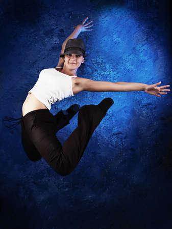 lithe: Shot of a modern female dancer. Stock Photo