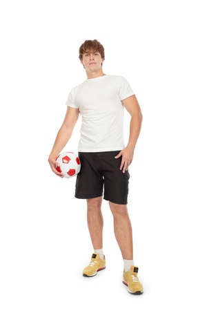 Portrait of a handsome sportsman holding a ball. Stock Photo - 5110592