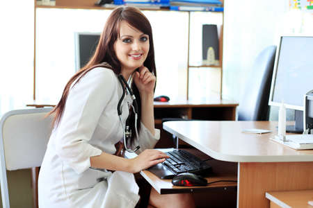 medical attendance: Medical theme: student in a classroom. Stock Photo
