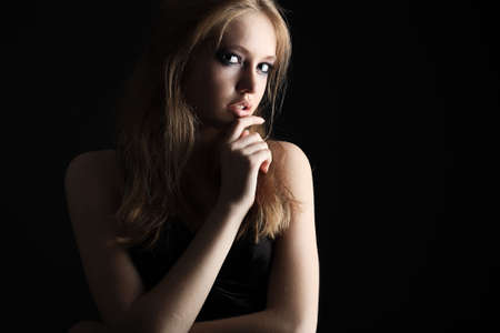 Portrait of a beautiful sexual female model. Beauty, fashion. Stock Photo - 5403444