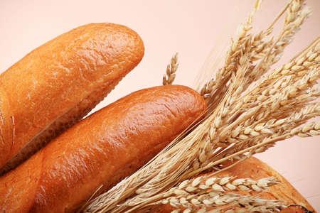 viveres: Los productos alimenticios Panader�a. Filmada en un estudio. Foto de archivo