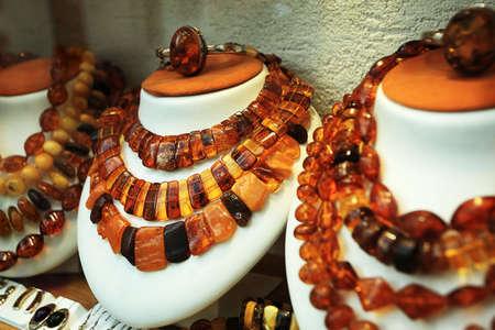 Shot of an amber beads. Stock Photo - 5615619