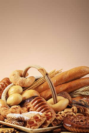 aliments: Boulangerie denr�es alimentaires. Tourn� dans un studio.