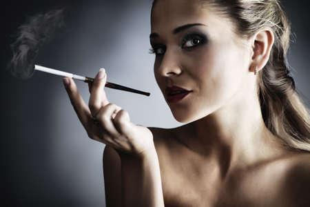 Portrait of a styled professional model. Theme: beauty, fashion photo