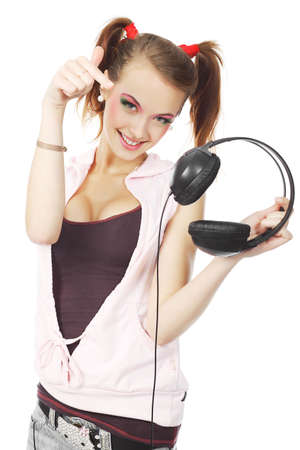 Portrait of a styled professional model. Theme: music, leisure Stock Photo - 5667768