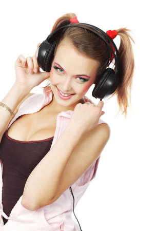 Portrait of a styled professional model. Theme: music, leisure Stock Photo - 5667765