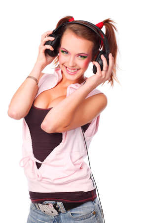 Portrait of a styled professional model. Theme: music, leisure Stock Photo - 5684596