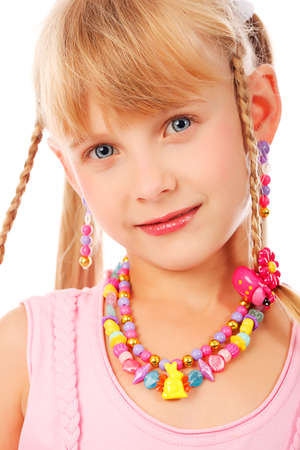 Portrait of a cute 6 years old girl. Stock Photo - 5716161