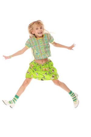 Shot of a jumping little girl. Stock Photo - 5762858