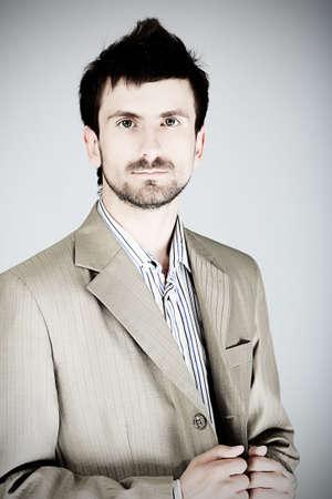 Business theme: portrait of a business man. photo