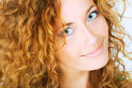 Portrait of a happy female model. Theme: beauty, fashion photo