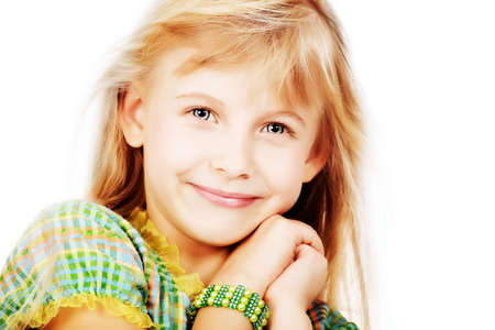 Portrait of a cute 6 years old girl. Stock Photo - 5927076