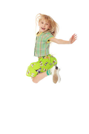 Shot of a jumping little girl. Stock Photo - 5927054