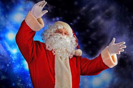 Christmas theme: Santa Claus, snowy design. Stock Photo - 6098359