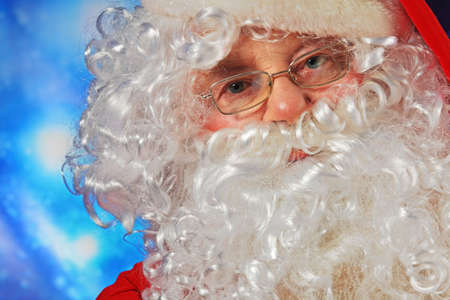 Christmas theme: Santa Claus, snowy design. Stock Photo - 6098562