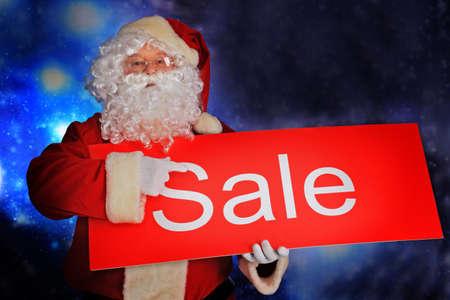 Christmas theme: Santa  gifts, snowy design. Stock Photo - 6098555