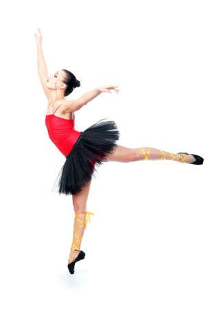 mimicry: Shot of an expressive ballet dancer.