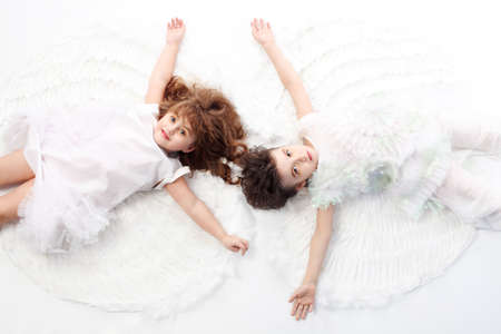 Beautiful little angels. Isolated over white background. Stock Photo - 6386368