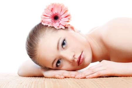 saloon: Retrato de un modelo profesional con estilo. Tema: cuidado de la salud, belleza, moda Foto de archivo