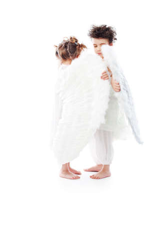 Beautiful little angels. Isolated over white background. Stock Photo - 6386150