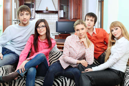 Group of young people having fun together at home. Stock Photo - 6472988
