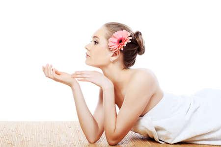 Retrato de un modelo profesional con estilo. Tema: cuidado de la salud, belleza, moda Foto de archivo