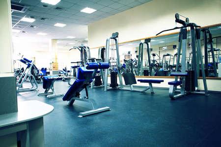 gimnasio: Club de fitness. Equipos, aparatos gimnasio.