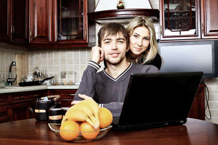 Happy young couple having a rest at home. Stock Photo - 11692123